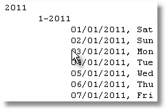 Text file for diary