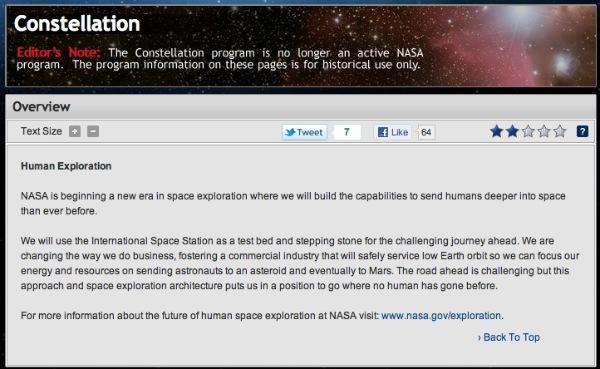 NASA Constellation