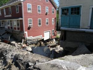 Destruction from Irene flooding