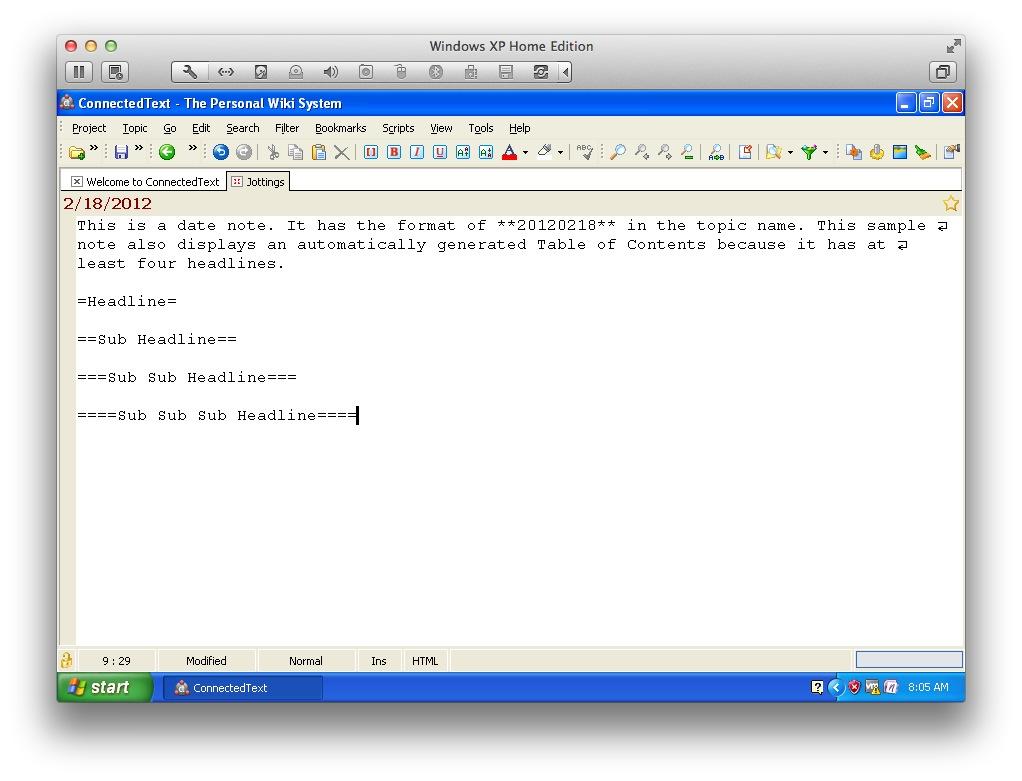 ConnectedText screenshot