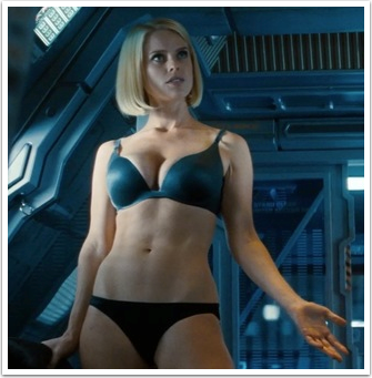 Alice Eve as new character Carol Marcus is not one of the physics problems that plague the film.