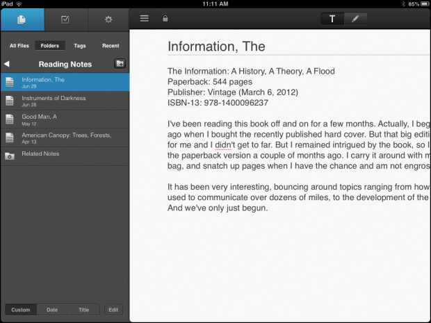 NoteSuite, the new note keeping app for iPad.