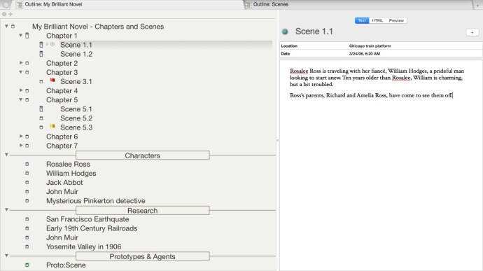 The Outline View in Tinderbox may be the software's most under-appreciated feature.