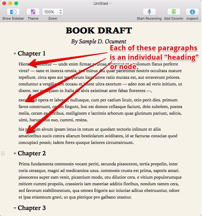 Sample OmniOutliner Document.