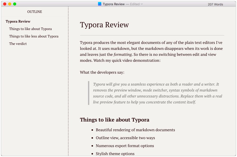 Typora renders beautiful documents | Welcome to Sherwood