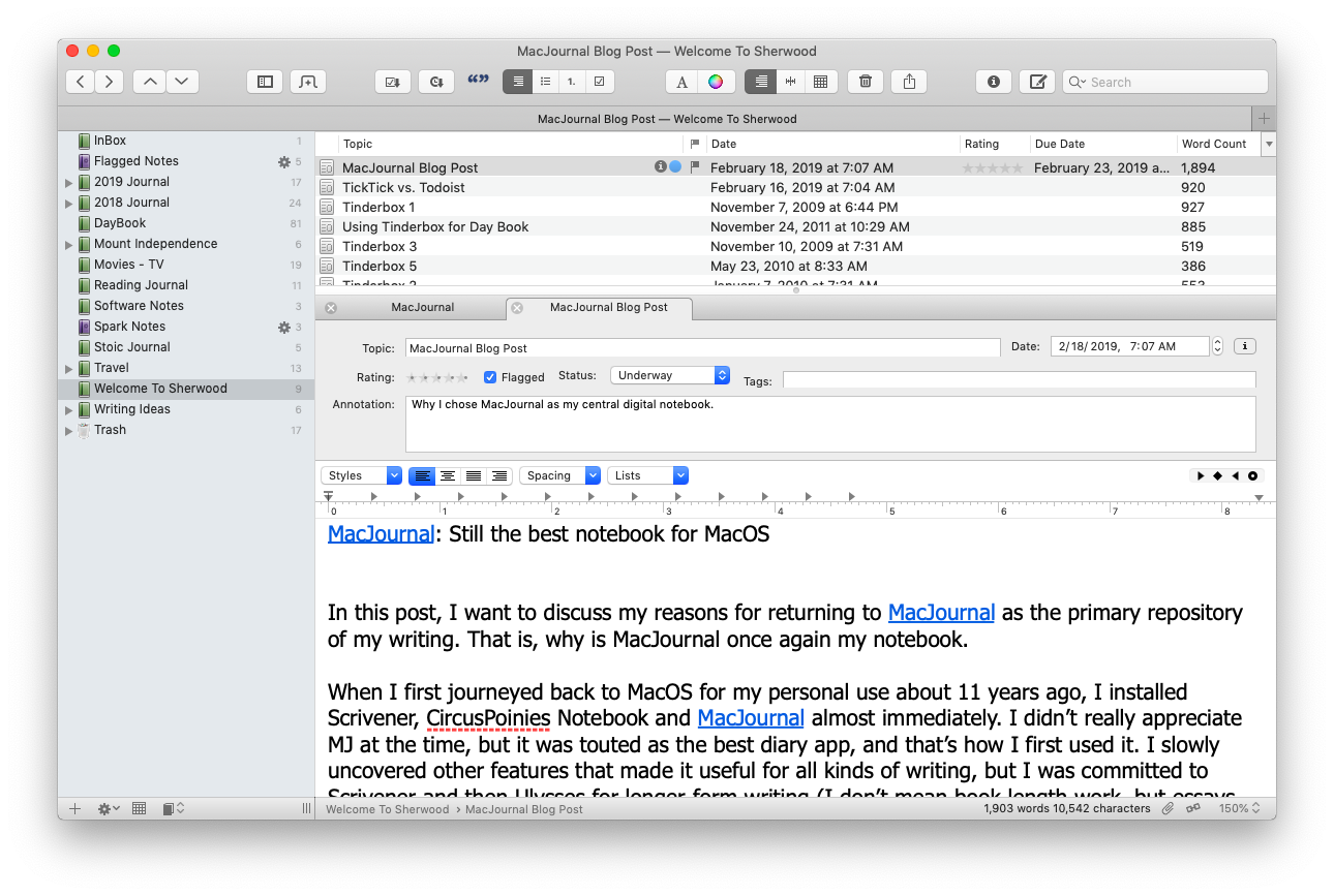 MacJournal: Still the best notebook for MacOS | Welcome to